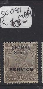 INDIA  CHAMBA   (PP0707B)  KGV  1A   SG O47   MNG