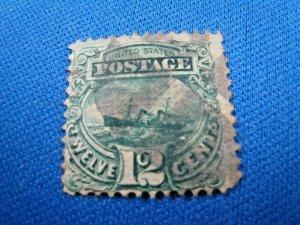 UNITED STATES, 1869 SCOTT #117 -  USED   (#2)