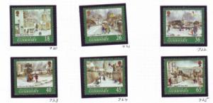 Guernsey Sc 720-5 2000 Christmas stamp set mint NH