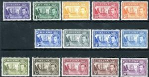 ST HELENA-1938  A lightly mounted mint set ½d to 10/- Sg 131-140