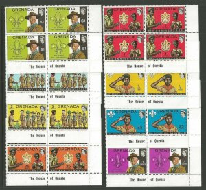 1972 Boy Scout Grenada Scouting 65th anniversary BadenPowell inscription blocks
