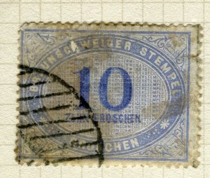 GERMANY; 1870s classic early fiscal/revenue issue used 10g. value
