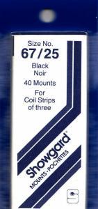 SHOWGARD BLACK MOUNTS 67/25 (40) RETAIL PRICE $8.35