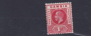 GAMBIA  1912 - 22  SG 87  1D RED  MH  NO2