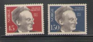 Norway Sc 403-4 1962 Bjerknes stamps mint NH