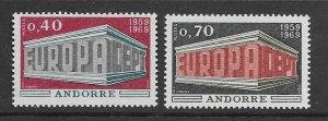 French Andorra 188-9 MNH set,  vf see desc. 2020 CV$16.50