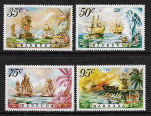 Barbuda MNH 209-12 Battle Of The Saints 1975 SCV 4.50