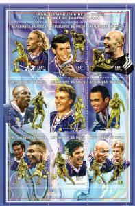 Niger 1998 World Cup Soccer Championships Shlt(9) MNH Sc 995