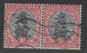 South Africa Scott 34 Used stamp pair