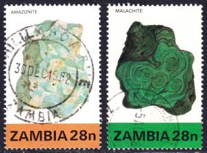 Zambia Scott 260, 265 F to VF used. Sc 260 has a splendid SON cds.