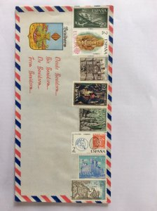 "Spain assorted mint stamps on cover. "" From Benidorm """