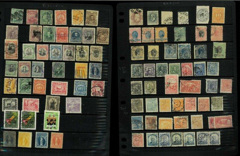 Central & South America M & U in Vario, Prinz Etc.Stock Sheets