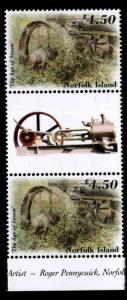 Norfolk Island Scott 763 Age of Steam MNH** Gutter pair of stamps
