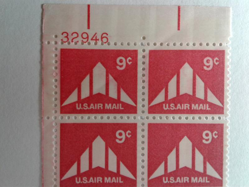 SCOTT # C77 MINT NEVER HINGED GEM AIR MAIL PLATE BLOCK  PRICED RIGHT !