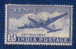INDIA Sc #202 fOUR MOTOR PLANE MH F-VF