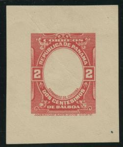 #2c 1916 CANAL ZONE CORDOBA FRAME ONLY DIE ESSAY XF VERY SCARCE HE5393