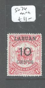 LABUAN (PP2608B) 10C/$1.00 ARMS LION SG 76  MOG