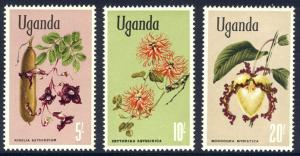 HALF-CAT BRITISH SALE: UGANDA #115-29 Mint NH