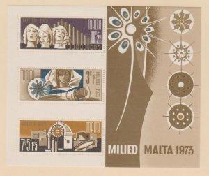 Malta Scott #B15a Stamp - Mint NH Souvenir Sheet
