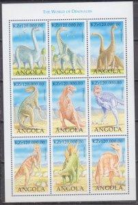 1998 Angola 1297-305KL Dinosaurs 8,50 €