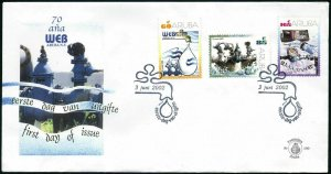 Aruba 217-219 FDC. Water and Energy Company,70th Ann.2002.