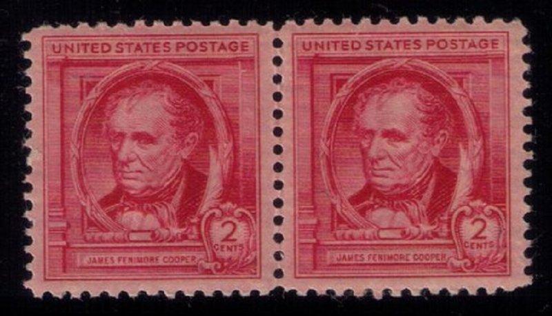 US Sc #860 MNH,OG Vert. Pair VF