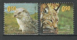 Bosnia and Herzegovina 2011 Fauna Animals 2 MNH stamps
