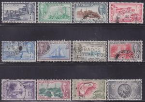 Barbados 216-227 VF used set scv $ 66 ! see pic !