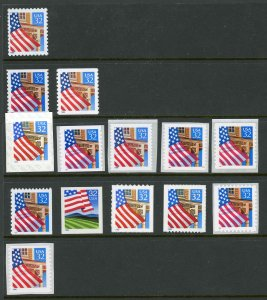 USA 2897,2913-2921,3133 Mint (NH) Complete Flag Over Series (Read Description)