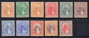 Malaysia - Perak 1938-41 values to 40c MLH/MH