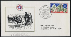 Wallis & Futuna 187 on addressed FDC - Flags, Washington, American Bicentennial