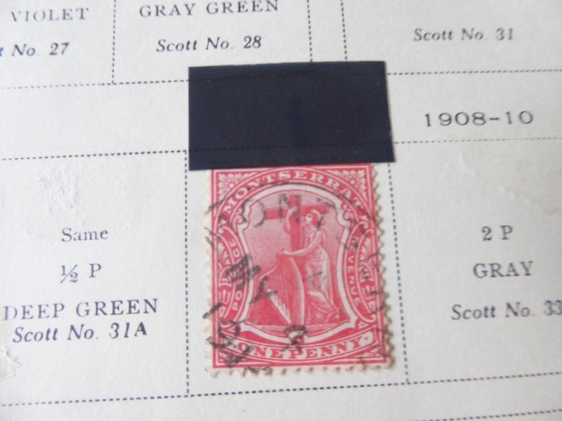 Montserrat 1903-1954 Mint/Used Stamp Collection on Scott Int Album Pages