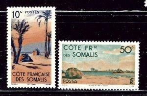 Somali Coast 248/251 MH 1947 issues    (ap2527)