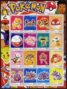 Timor (East) 2001 Pokemon #07 (characters nos 97-112) per...