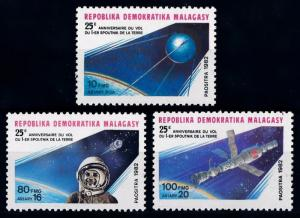 [64454] Madagascar 1982 Space Travel Weltraum Spoutnik  MNH
