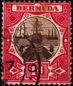Bermuda. 1902 1d  S.G.32  Fine Used