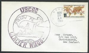 USA ANTARCTIC 1966 cover USCGC Glacier cancel..............................53525