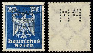 ALLEMAGNE / DEUTSCHLAND - 1924 Mi.358 mit FIRMENLOCHUNG  PM  gebraucht