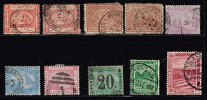 EGYPT STAMP OLD USED STAMPS COLLECTION LOT  #T1