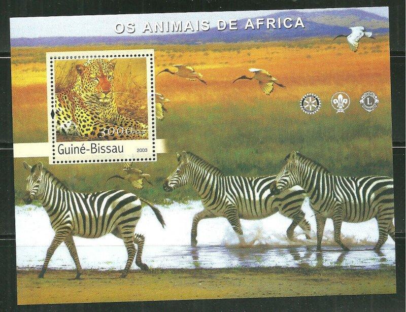 Guinea-Bissau MNH S/S Zebras Wildlife 2003
