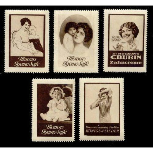 Germany - Mouson Soap/Perfume Advertising Poster Stamps