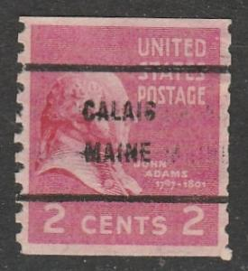 Etats-Unis  1939  Scott No. 841  (O)  Precancel  Calais