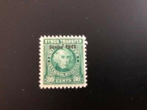RD244 Stock Transfer VF MNH Overprint 1947