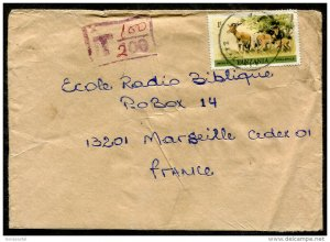 d219 - TANZANIA 1980s Cover to France. Impala. Short-Paid. Postage Due