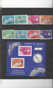 Paraguay 895-902, 900a Perf & Imp MNH ITU Centenary