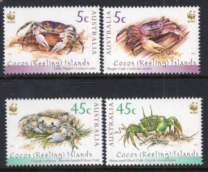 Cocos Keeling Islands 333-334 Crabs MNH VF
