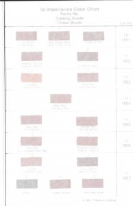 Doyle's_Stamps: 1991 Philatelic Institute 3c '51 Color Chart for Scott #10 & #11