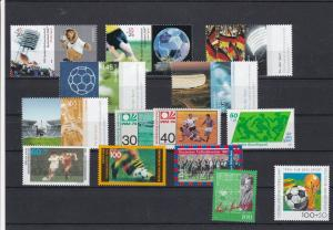 German Football Mint Never Hinged Stamps Ref 31324