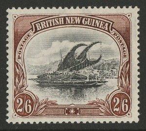 PAPUA : 1901 BNG Lakatoi 2/6, vertical wmk, thin paper