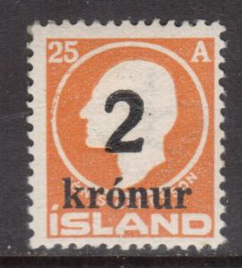 Iceland #149 Mint Fine - Very Fine Never Hinged
